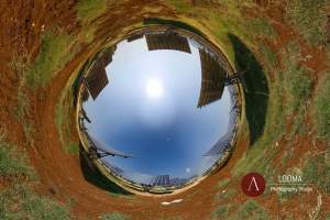 panorama 360 photography for the industry, photovoltaic panels in Italy