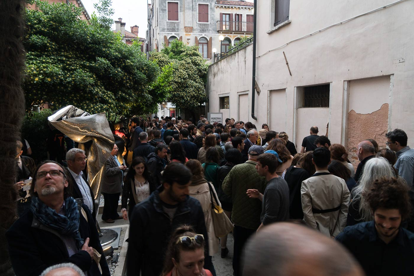 People at the opening of Venice exhibition