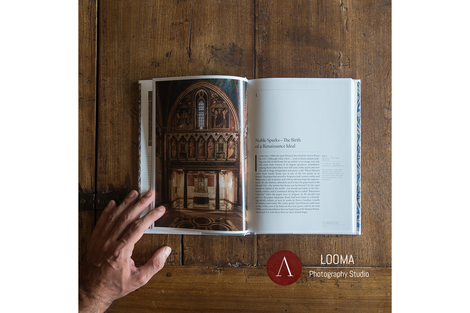The photograph published on the book: Art of Renaissance Rome