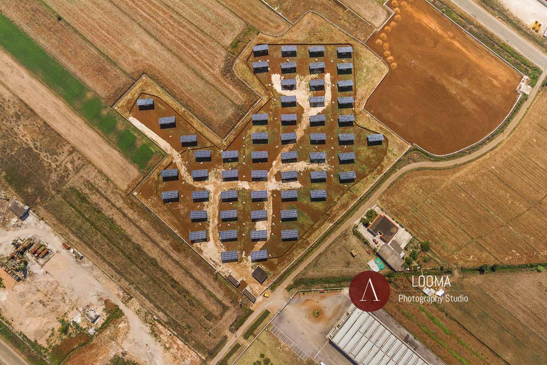Servizi di foto aeree per l'industria dei pannelli fotovoltaici in Italia