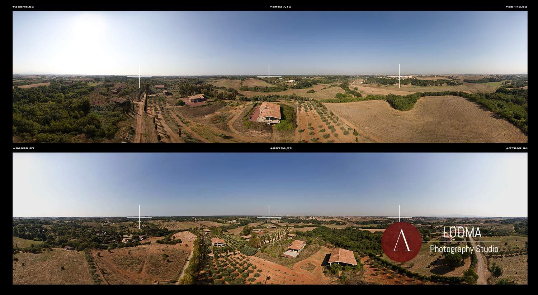 Fotografia aerea panoramica 360°